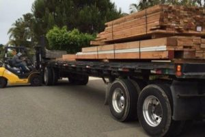 Deconstructed lumber on its way to a new project